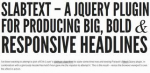 Make Headlines Smart, Sleek, and Strong Headlines with SlabText