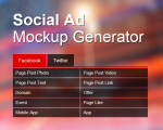 Facebook and Twitter Ad Creator Software Tool